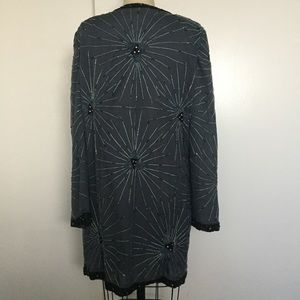 b74a626fa74 Vintage Sweaters - NWT Vintage Brenda s Silk Beaded Cover-Up Cardigan